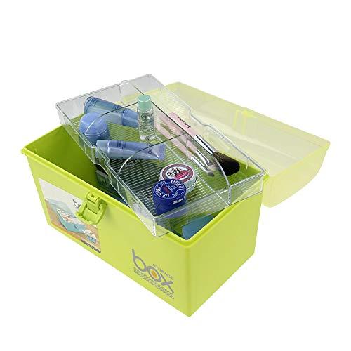 41gFHf8Aj0L - Mayish Verde Caja de Medicamentos Caja Maquillaje Botiquín Caja de Almacenamiento de Plástico Botiquin de Primeros Auxilios Caja de Almacenamiento Pequeña con Cerradura, 1 Paquete