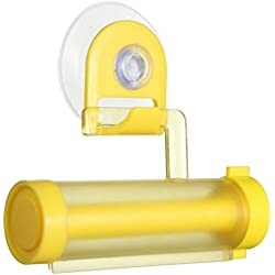 Shopizone® Rolling Toothpaste Squeezer Wall Mount Sucker Dispenser Resuable & Suitable for Medicine Tube, Makeup Cosmetic Tube, Colour Paint Tube Bathroom Accessaries - (Yellow)