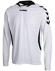 Hummel team player poly long sleeve - Camisa de acampada y senderismo, tamaño XL, color blanco