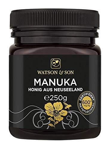 Watson & Son Manuka Honig MGO 600+ 250g | Zertifizierte Premium Qualität aus Neuseeland