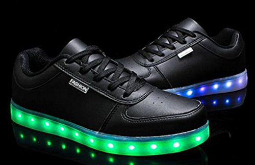 Usb Unisex Schwarz Leuchtend Sneaker Sport Sportschuhe Erwach Farbe Turnschuhe Handtuch junglest Für Schuhe Led 7 present Aufladen kleines RTXZqZxF