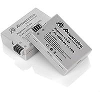 Powerextra 2 Unidades 7.4V 1800mAh Canon LP-E8 Reemplazon Batería Rercargable para Canon LP E8 Rebel T3i, T2i, T4i, T5i, EOS 600D, 550D, 650D, 700D, Kiss X5, X4, Kiss X6, LC-E8E