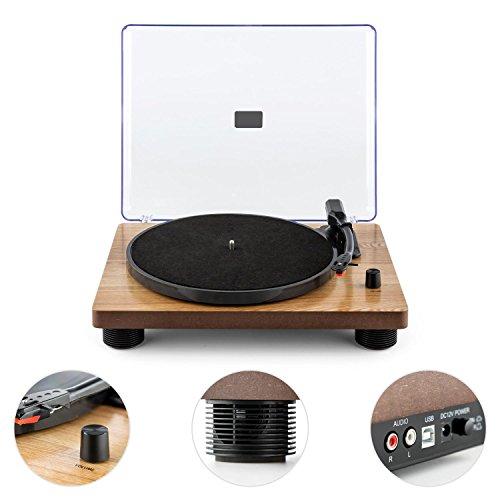 auna tt classic wd tocadiscos usb con altavoces. Black Bedroom Furniture Sets. Home Design Ideas