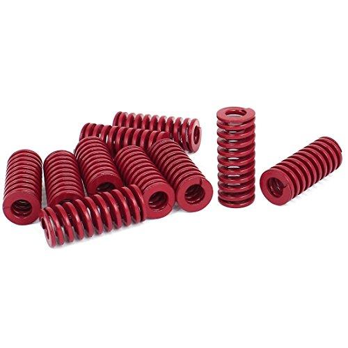 Preisvergleich Produktbild sourcingmap® 10 Stk 16mm OD 40mm Lange mittlere Last Stanzen Kompressionsform Die Feder Rot
