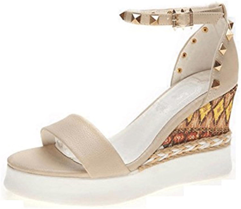 Zapatillas de Moda Sandalias   Sandalias de mujer Señoras sandalias de moda   Singapur   gruesas con sandalias sandalias romanas ,negro,42 gran código US9.5-10/EU41/UK7.5-8/CN42 black
