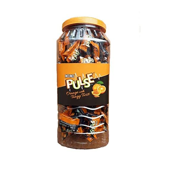 Pass Pass Pulse Orange JAR 520g - (Pack of 1) + Free 3 Pouches of Rajnigandha Silver Pearls - Sold by SB