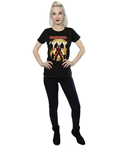 Marvel Damen Deadpool Target Practice T-Shirt Schwarz
