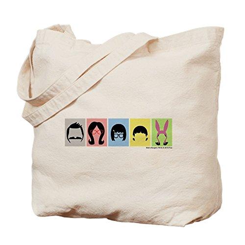 CafePress–Bob 's Burger Silhouetten–Leinwand Natur Tasche, Reinigungstuch Einkaufstasche Tote S khaki (Canvas-baumwolle T-shirt)