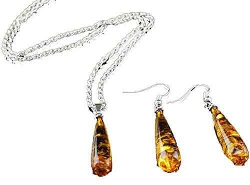 saysure-jewelry-sets-imitation-amber-pendant-necklace
