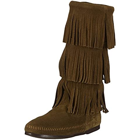 Minnetonka 3-layer Fringe Boot - Mocasines Mujer