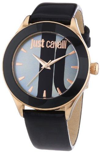 Just Cavalli  r7251592502 – Reloj de cuarzo para mujer, con correa de cuero, color negro