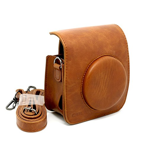 CAIUL Vintage Carry Camera Case Bag with Shoulder Strap Compatible with Fujifilm Instax Mini 50s Instant Camera, Brown  available at amazon for Rs.995