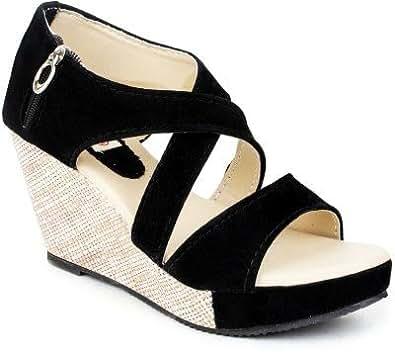 Kanchan Womans Wedges Heel Sandal…..SKU : Z-BK-41