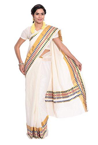 Fashionkiosks Kerala kasavu Cotton Saree with Blouse