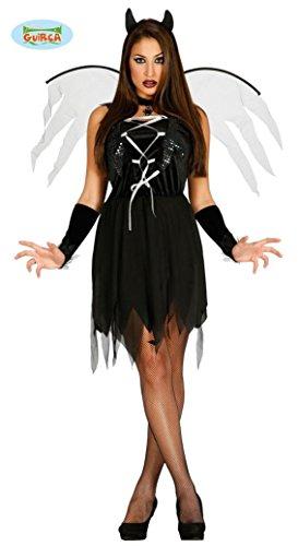 KOSTÜM - DÄMONEN GIRL - Größe 38-40 (M), Teuflisch Sagen Mythologie Hexen Satan Luzifer - Dämonen Kostüme