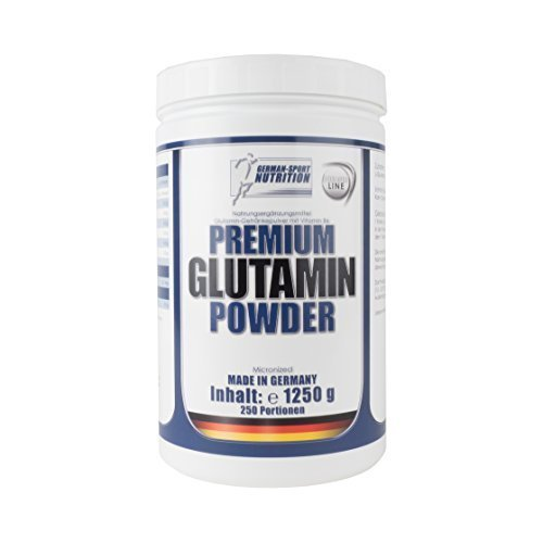 German Sport Nutrition Premium Glutamin Powder 1250g L-Glutamin Pulver