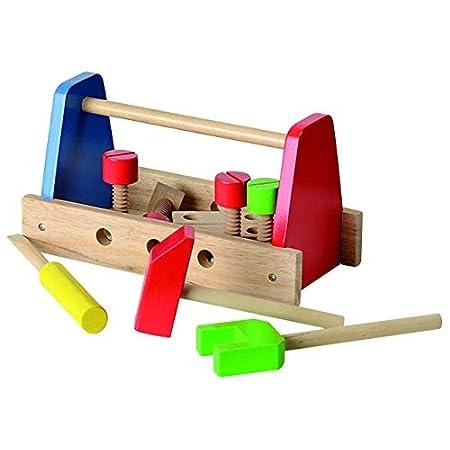 Beluga Spielwaren 50100 – Werkzeugtragebox für Kinder, 14-teilig