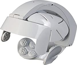 Xectes Electric brain massager/Automatic Vibrating, Relaxing Head Spa Massager Brain Massage Relax Easy Acupuncture Point 1 Piece (Grey Colour)
