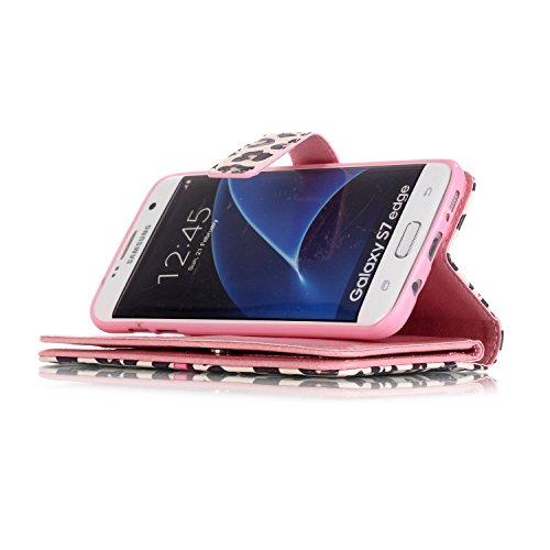 Voguecase® Pour Apple iPhone 6/6s 4,7 Coque, Étui en cuir synthétique chic avec fonction support pratique pour Apple iPhone 6/6s 4,7 (9 emplacements-papillon bleu 06)de Gratuit stylet l'écran aléatoir 9 emplacements-pivoine 03