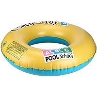 Anillo de natación, huhua hinchable de natación Anillo piscina Río lago playa Balsa Flotante Tubo Anillo para el bebé niños adultos, color amarillo, tamaño 80