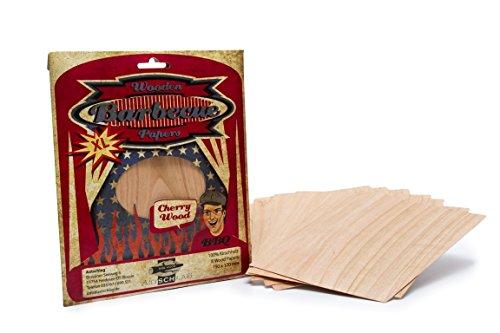 Axtschlag Grillpapier, Wood Paper Kirsche - Cherry, 8er XL Pack, Holz 190 x 170 mm (Plank Fisch Grillen)