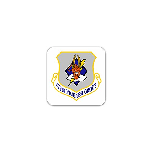 Aufkleber / Sticker -476th Fighter Group United States Fighter Attack Air Force Reserve Command Moody Air Force Base Georgia WW2 Wappen 7x7cm #A2603