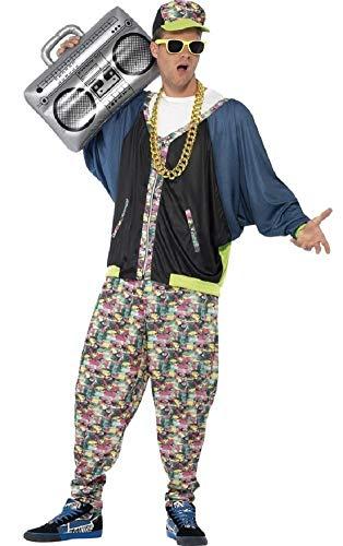 Party Jahrzehnte Kostüm - Herren 1980's 80's Hip Hop Rapper Mc Hammer Vanilla Ice Fresh Prince Jahrzehnte Party Kostüm Kleid Outfit