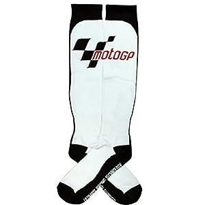 41gFQj3NwdL. SS300  - MotoGP White summer Knee Length Boot Socks