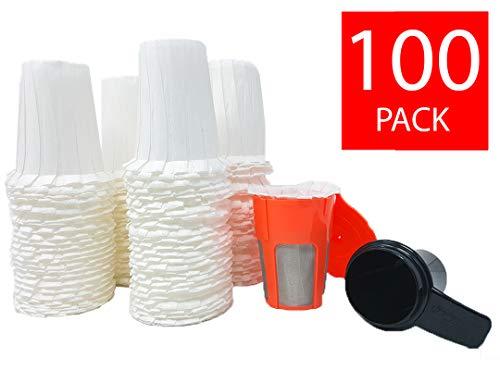 GOLDTONE Einweg-Kaffeefilter für Keurig K-Karaffe, wiederverwendbar, 100 Stück 100 Pack w/filter & scoop 101 Pack w/scoop - Karaffe Keurig Filter