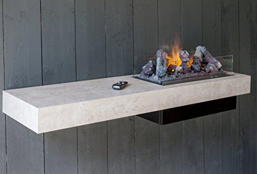 Faber Concrete Shelf Interior Wall-mountable Fireplace Eléctrico Gris - Chimenea 200 W