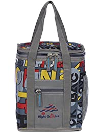 Right Choice Lunch Bags (MULTI COLOR) Branded Premium Quality Carry on Tote for School Office Picnic Travel Camping Outdoor Pouch Holder Handbag Compact Heat Preservation Waterproof Hygiene Meal Prep Box Bag for Men Women and Kids,MULTI COLOR