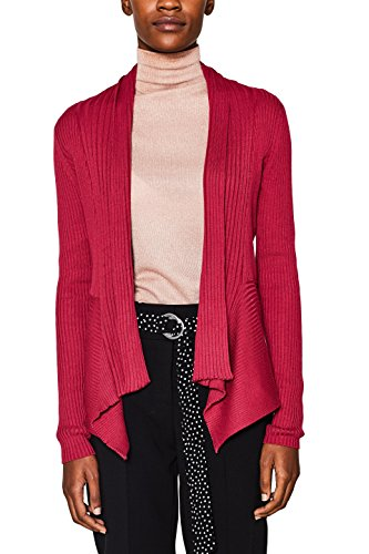 ESPRIT Damen Strickjacke 018EE1I018, Rot (Cherry Red 2 616), XX-Large