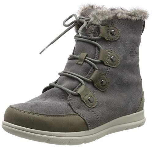 Sorel Damen Schnee (Sorel Damen Explorer Joan Stiefel, grau (quarry)/schwarz, Größe: 39)