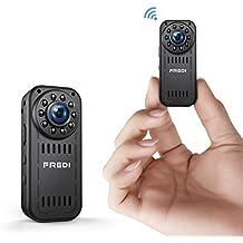 Camera Espion, FREDI 1080P HD Mini Camera WiFi, Caméra de Surveillance Sans Fil Avec Infrarouge de Vision Nocturne,Détection de Mouvement,Support Maximum de 128G pas Inclus