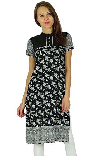 Phagun Bollywood Kurta diseñador indio étnico Mujeres Kurti algodón de la túnica vestido