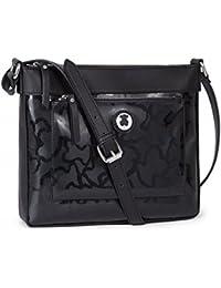 Bolso Bandolera Tous modelo Kaos Shiny en color negro con bolso verano Tous de regalo