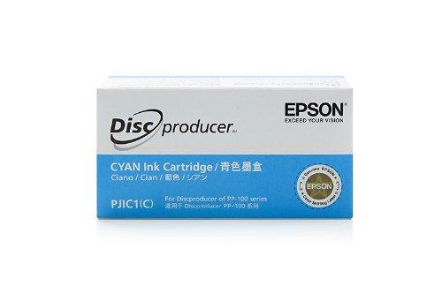 Original Epson C13S020447 / PJIC1 Tinte (cyan, Inhalt 26 ml) für Discproducer PP 100, Discproducer PP 50 (Discproducer Epson)