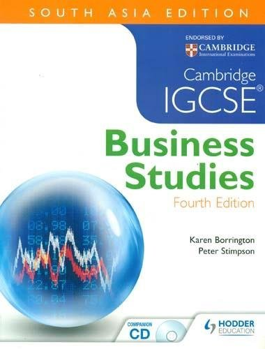 Cambridge IGCSE® Business Studies, 4/e (SAE) [Paperback] [Jan 01, 2013] Karen Borrington Peter Stimpson