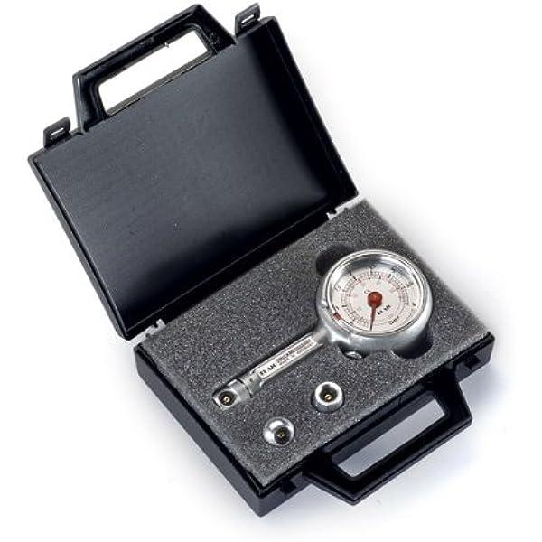 Reifendruckprüfer Reifendruckmesser Mit Ablassventil 0 4 Bar Im Koffer Set Auto