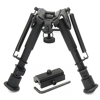 JINSE Tactical Bipod Zweibein Faltfeder Return 6-9 Zoll mit Adapter