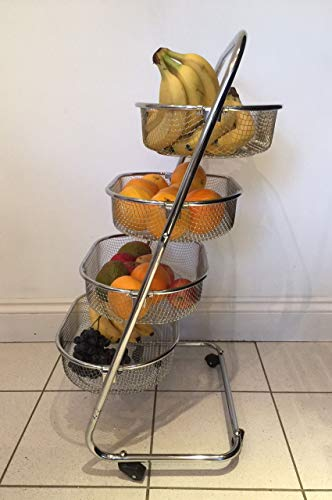 Rangement Cuisine Legumes Chrome