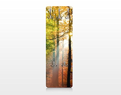Apalis 75077 Wandgarderobe Morning Light | Design Garderobe Garderobenpaneel Kleiderhaken Flurgarderobe Hakenleiste Holz Standgarderobe Hängegarderobe | 139x46cm