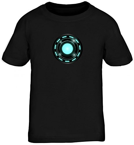 ShirtStreet Kult Film Kids Kinder T-Shirt mit Arc Reactor Motiv, Größe: 134/146,Schwarz