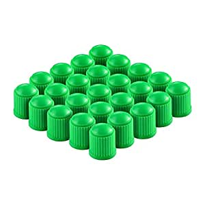 Generic - WV01RCA081146-1 Delux Car Wheel Tire Valve Stem Dust Caps for Car, Motorbike, Bike | Heavy-Duty, Airtight Seal - 100 Pieces (Green)