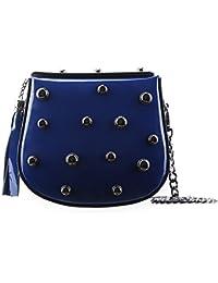 Spalla Donna Scarpe Borchie Amazon Blu Borse A it E Borsa gxnxqAF