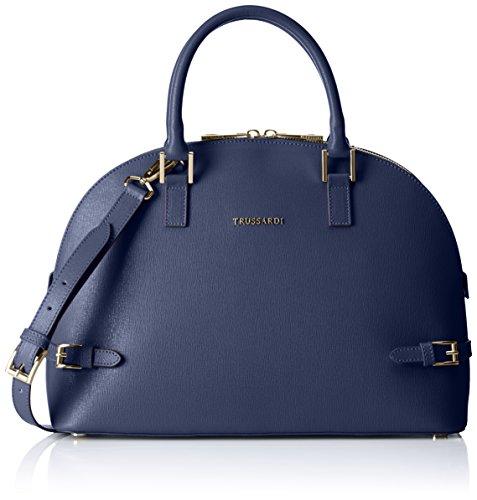 Tru Trussardi Damen 76b32453 Tote-Bag, Blu (Blue Denim), 38 x 26 x 13 cm (Tote Denim Blue)