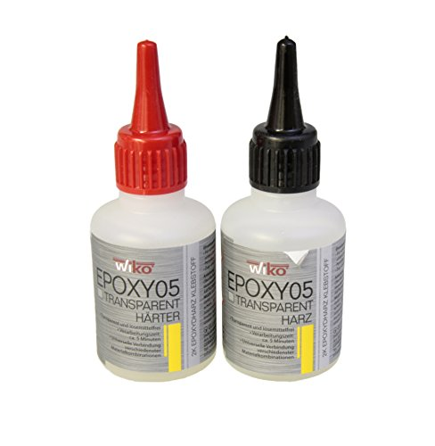 2-Komponenten Epoxydharz Klebstoff 5 min Harz und Härter Transparent - Set 100 g - 5 Min Epoxy
