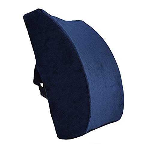 LoveHome Memory Foam Lumbar Support Back Cushion With velvet Cover