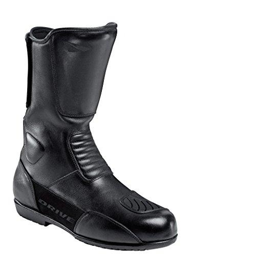 Drive Motorrad-Stiefel lang Motorrad-Schuh Tour Lederstiefel 1.0 schwarz 45