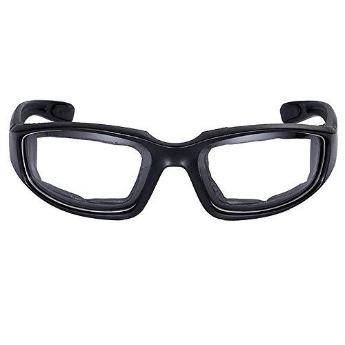 nakw88 Brille Motorrad Reiten Bruchsicher Nacht Radfahren Wind Outdoor PC Augenschutz Sonnenbrille Gelb - Durchsichtig